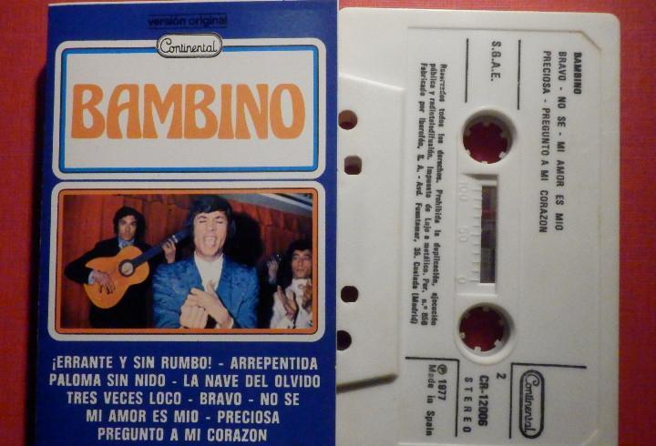Cinta de Cassette - Casete - Bambino - Continental 1977