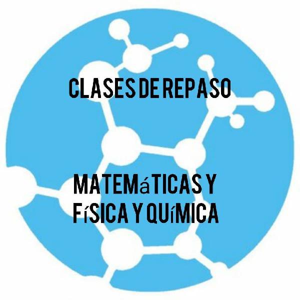Clases de física y química y matemáticas