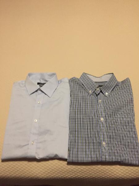 Dos camisas manga larga hombre cortefiel talla l.