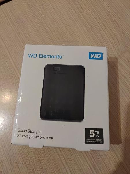 Disco duro 5tb western digital elements