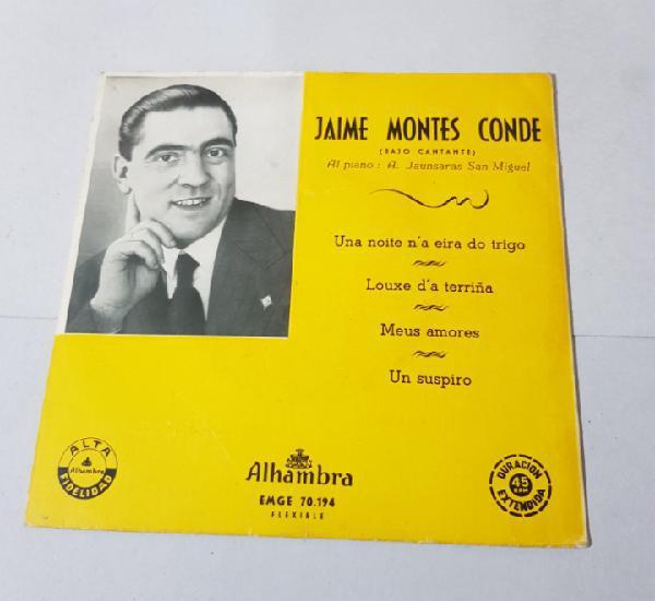GALICIA - JAIME MONTES CONDE (BAJO CANTANTE)