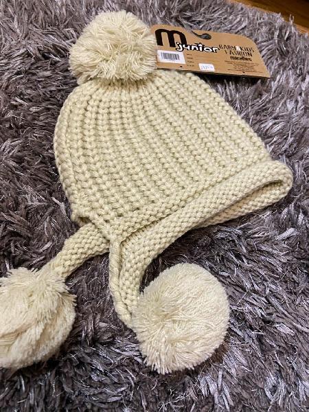 Gorro lana beige talla 3-6 años. producto nuevo.