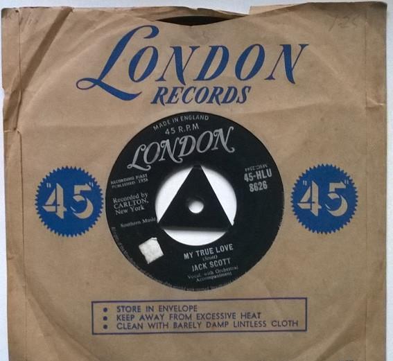 Jack scott. my true love/ leroy. london, uk 1958 single