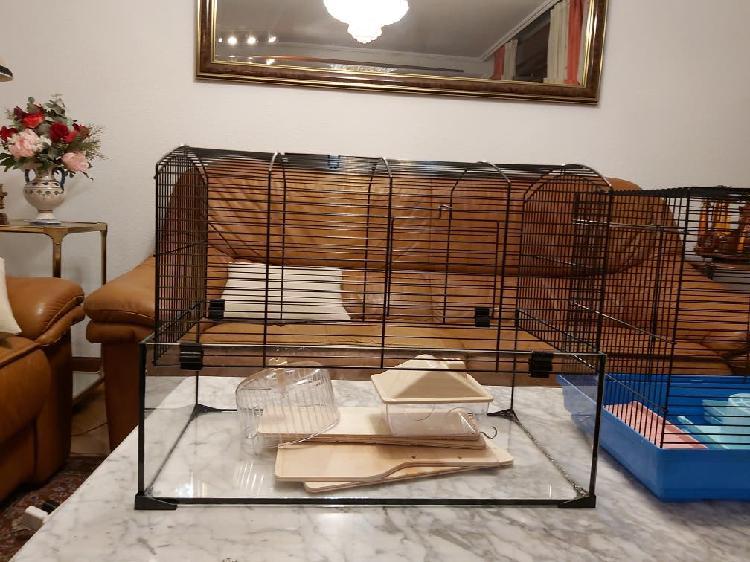 Jaula cristal de hamster/jerbos