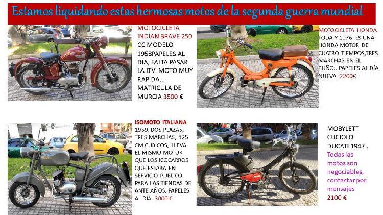 Liquidación de motos antiguas, no te lo pierdas