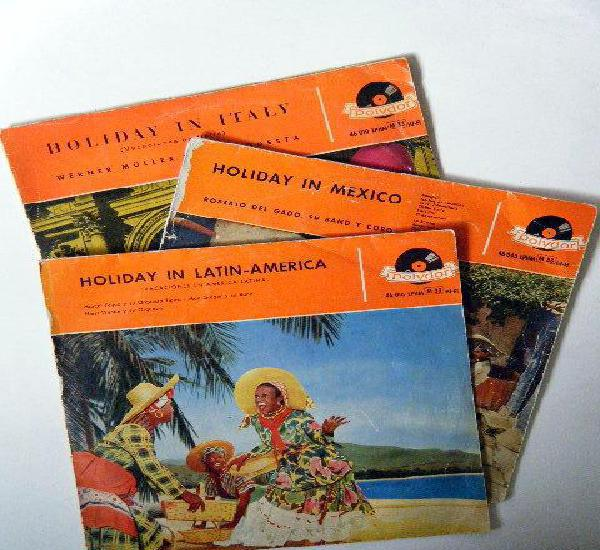 Lote tres lps holiday in mexico holiday in italy holiday in