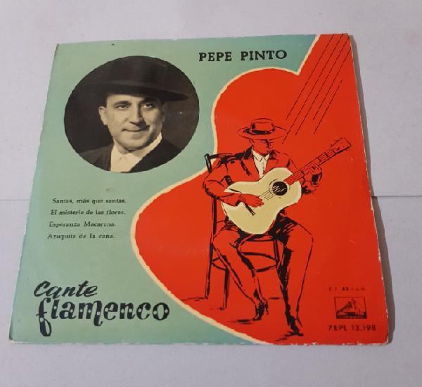 PEPE PINTO - CANTE FLAMENCO 1958 - SANTAS, MAS QUE SANTAS