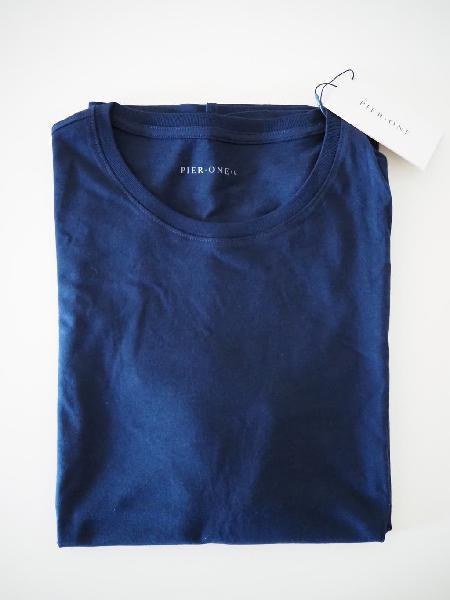 Pier one. camiseta azul de hombre. talla l