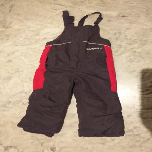 Pantalon peto para nieve 2 a 4 años