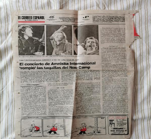 Página del periódico el correo español hablando del