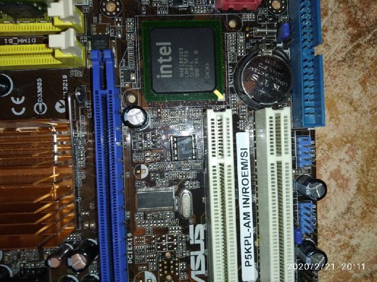 Placa base asus p5kpl-am+ dual core + ram