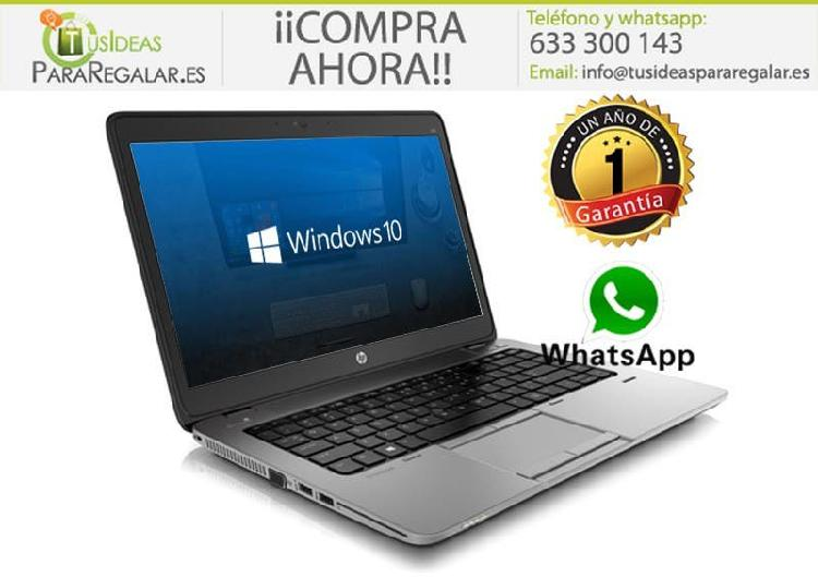 Portátil hp elitebook ultrabook 840 g2, i7/8gb/256
