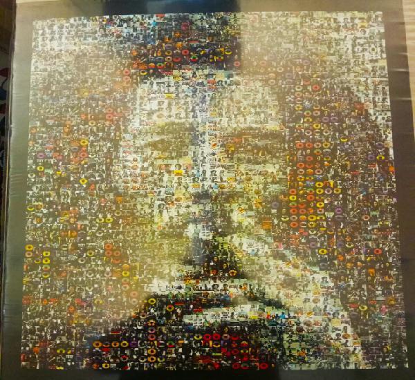 Póster bob marley impresionante collage hecho con fotos de