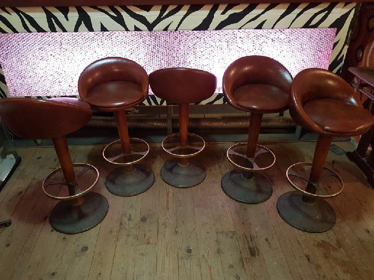 Silla alta de bar vintage, taburete alto de barra