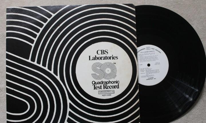Test record cbs laboratories sq quadraphonic sqt-1100 vinyl