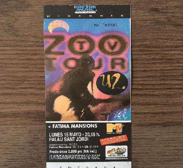 U2 entrada concierto barcelona 18 mayo sin romper