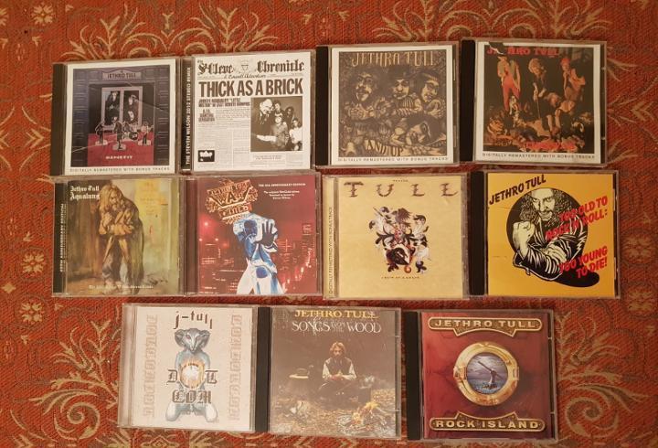 lote 11 cds jethro tull.remasterizados años 2000.VER