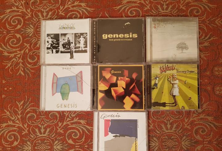 lote 7 cds genesis,remasterizados años 2000.VER DETALLEs y