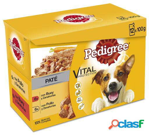 Pedigree pack 12 pouches pate 100 gr