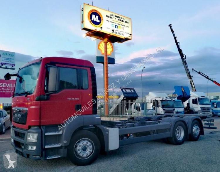 Camión man chasis tgs 26.320 6x2 diesel euro 5 usado