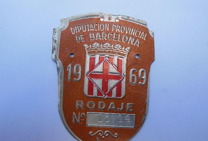 Antigua chapa,tasa municipal diputacion provincia barcelona,