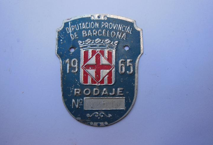 Antigua chapa,tasa municipal - diputacion de provincia