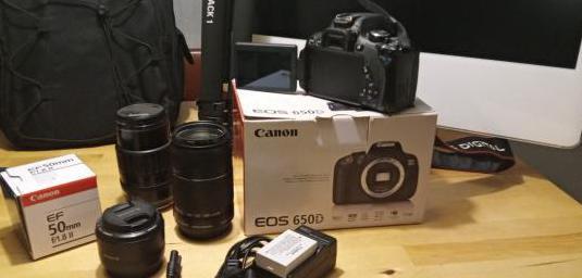 Canon eos 650d 3 objetivos accesorios