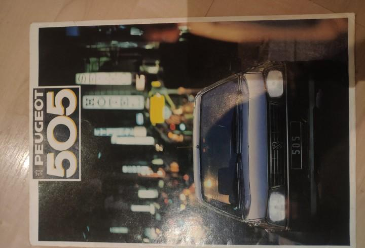 Catalogo peugeot 505 1987