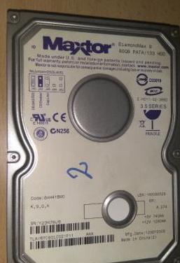 Disco duro maxtor diamondmax 9 80gb pata