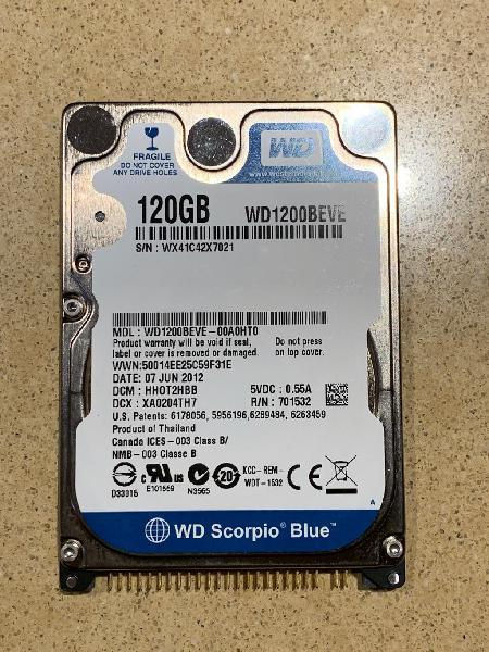 Disco duro 120gb ide