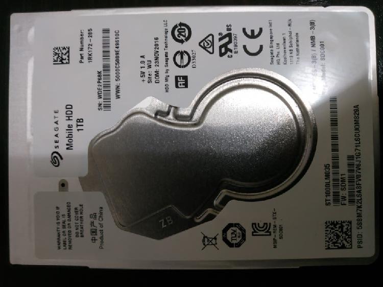 Disco duro sata seagate 1tb 2.5