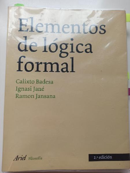 Elementos de lógica formal. manual badesa