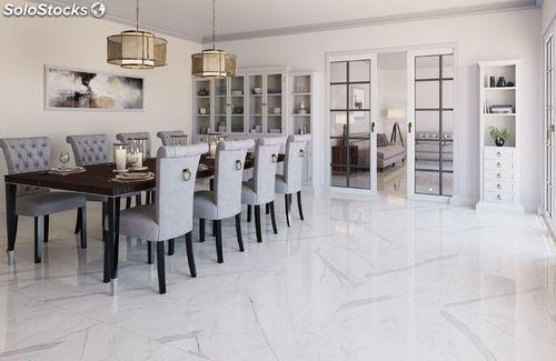 Gran baldosa mármol blanco Calacatta Brillo 60x120cms