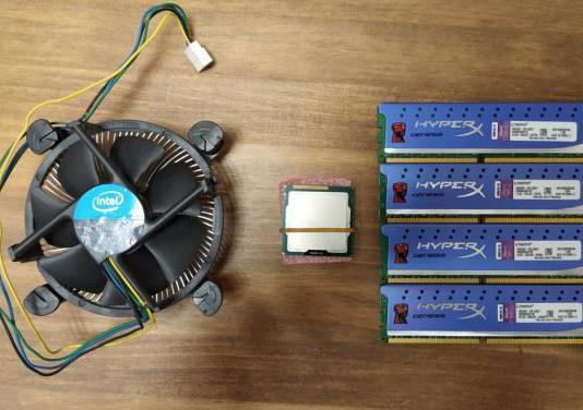 Lote i7 2600k 16gb ddr3 ventilador intel stock