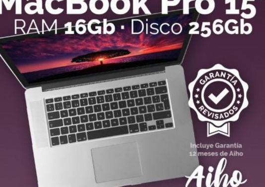 """Macbook pro 15"""" i7 2,2ghz 16gb ram disco..."""