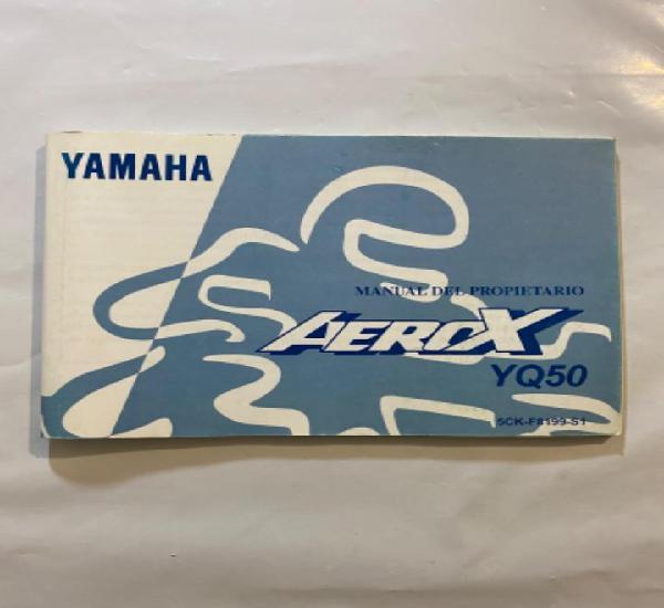 Manual de propietario yamaha aerox yq50