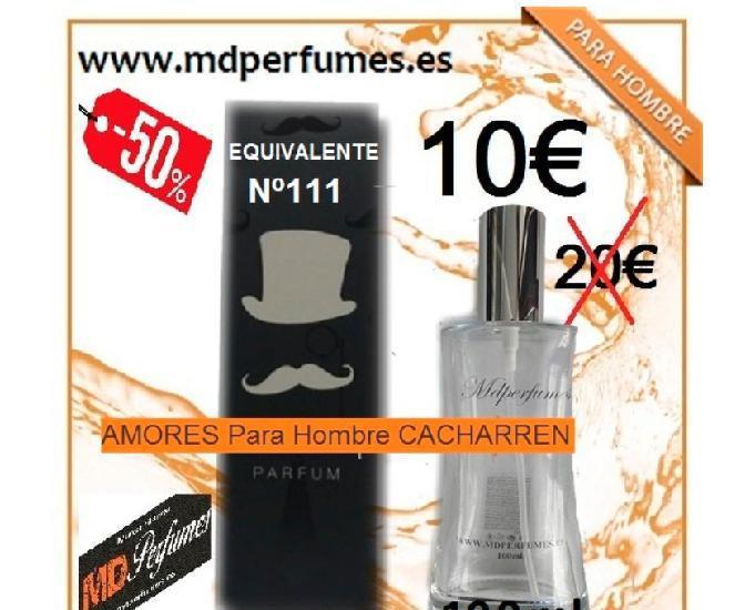 Perfume equivalente nº111 amores para hombre cacharren