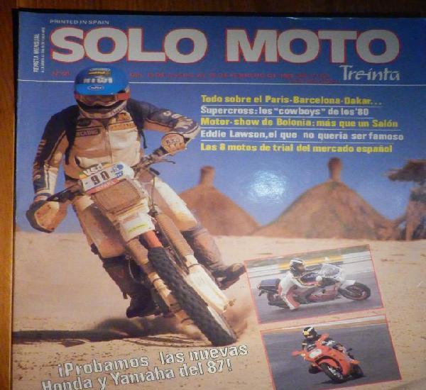 Solo moto treinta - nº 48 - enero-febrero 1987 - yamaha fz