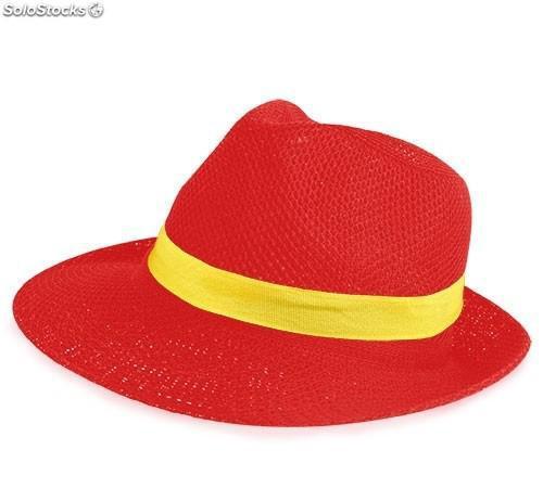 """Sombrero de ala ancha con cinta amarilla incluida """"málaga"""""""