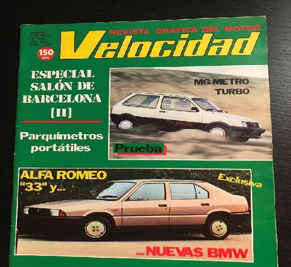 Velocidad nº 1128 - mg metro turbo / alfa romeo 33 / salon