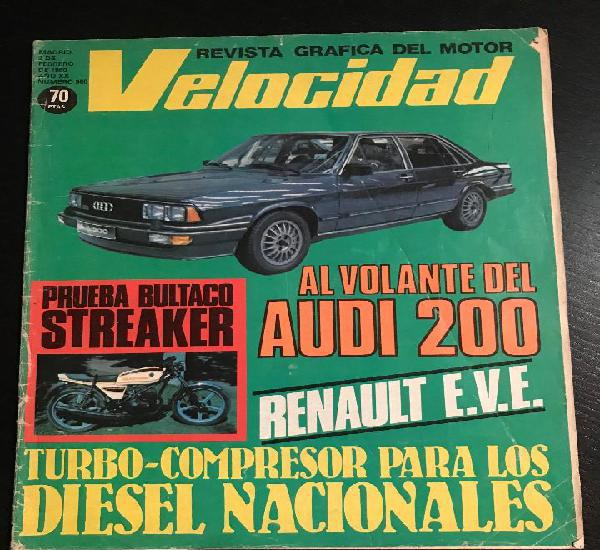 Velocidad nº 960 - audi 200 - bultaco streaker / speedster