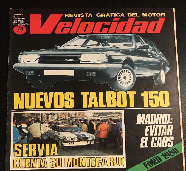 Velocidad nº 961 - talbot 150 / servia montecarlo /