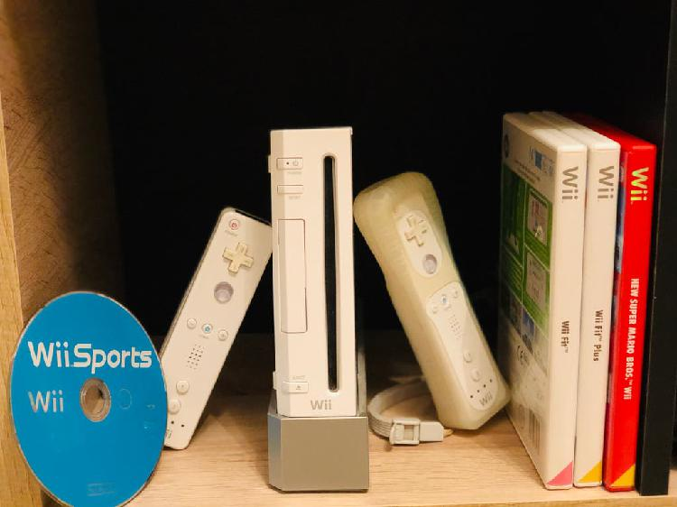 Wii modelo rvl-001, wii balance board, 4 juegos