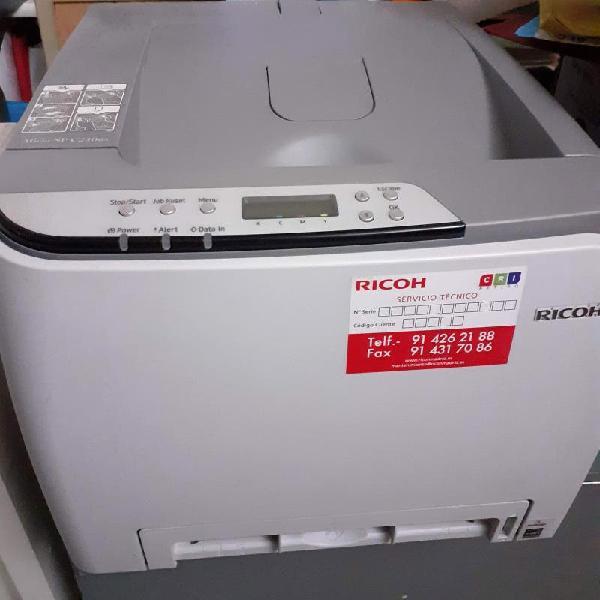 Impresora laser color ricoh sp 240 dn para piezas