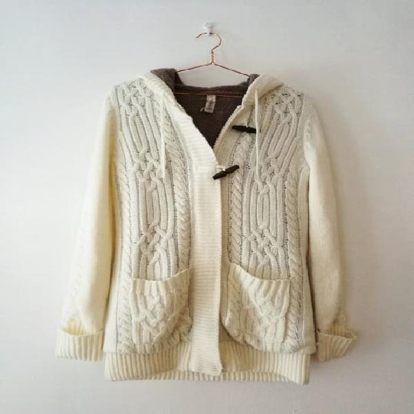 Abrigo blanco pull & bear