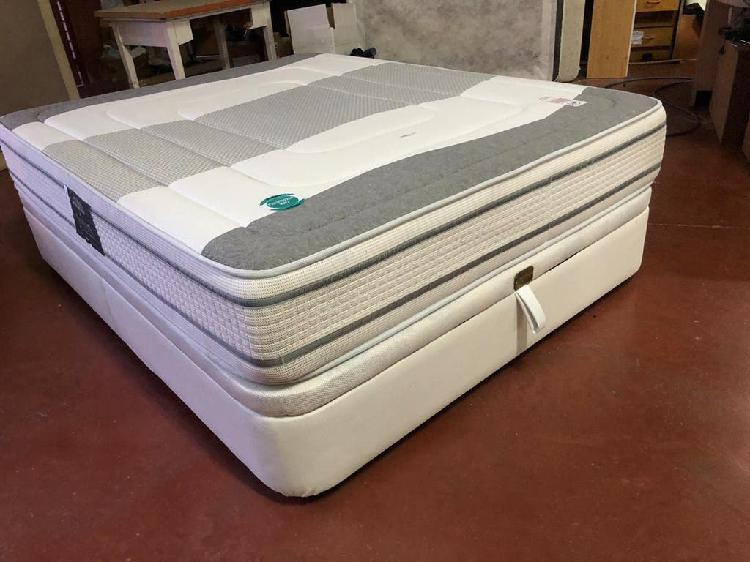 Canapé polipiel+colchón visco 150x190