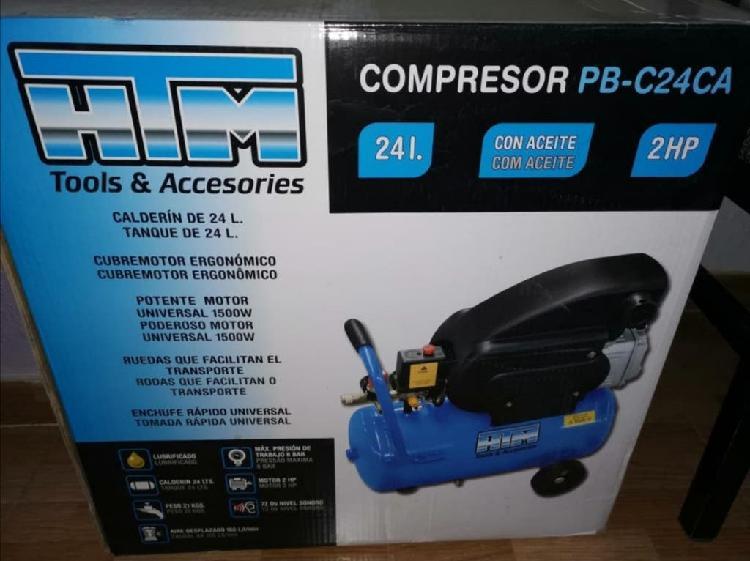 Compresor de aire 24l. 2hp