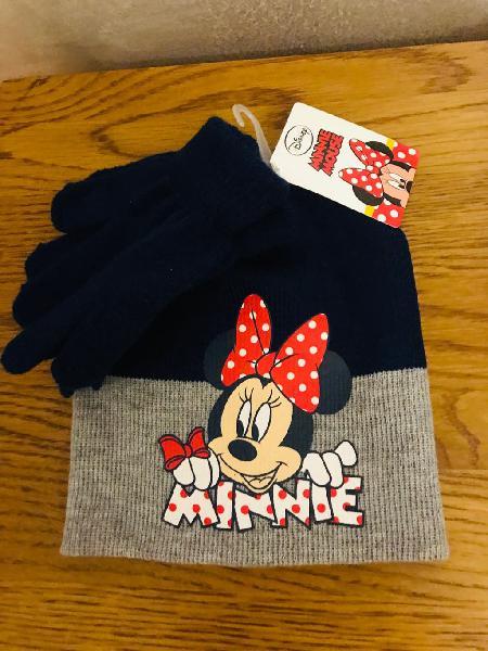 Conjunto de gorro y guantes niña 2-4 años nuevo