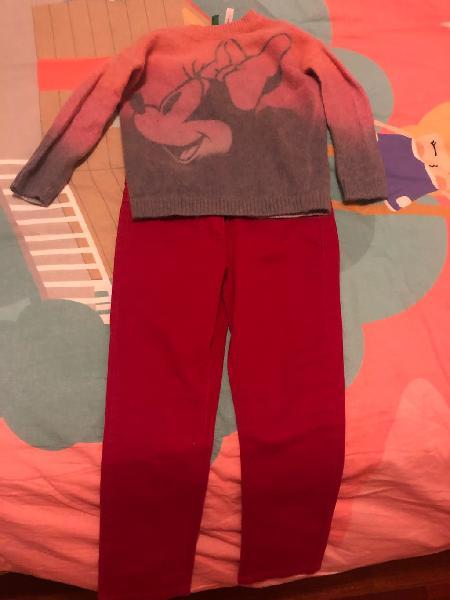 Conjunto niña jersey y pantalón benetton talla 3-4