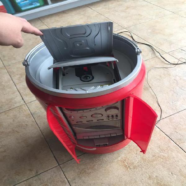 Minicadena cocacola con forma lata cd retro diseño